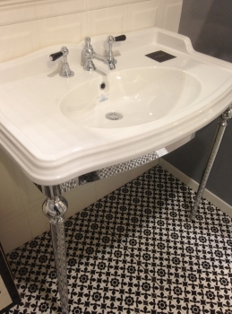 Consolle Originale Inglese Outlet 75000 Iva Lavabo Piedi Cromo